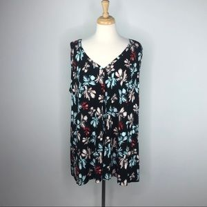 NWT Lane Bryant Plus Size Floral Swing Tank